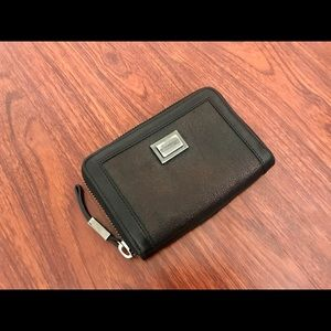 Burberry leather zip-around wallet